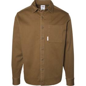 Topo Designs Dirt Camiseta Manga Larga Hombre, marrón